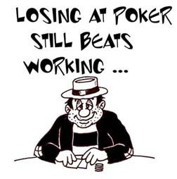 losing at poker gift design